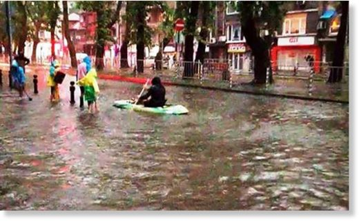 Canoeing on Plovdiv's Ruski Boulevard at the weekend.