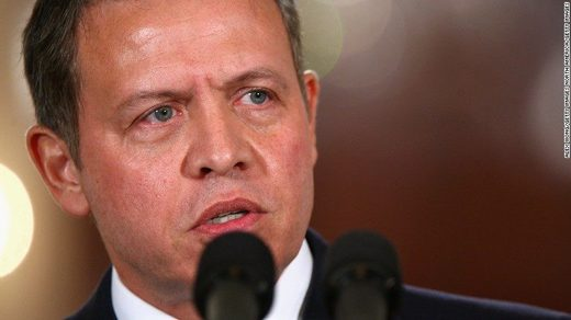 King Abdullah II of Jordan.