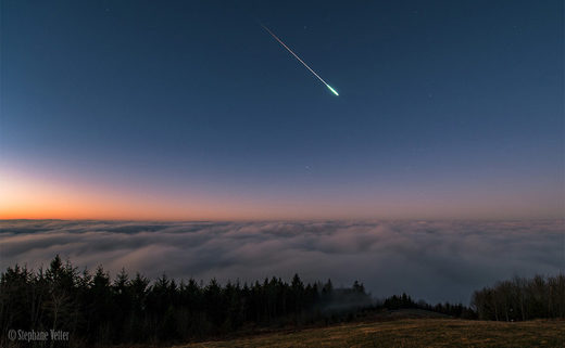 Meteor over Schliengen, Germany (stock)