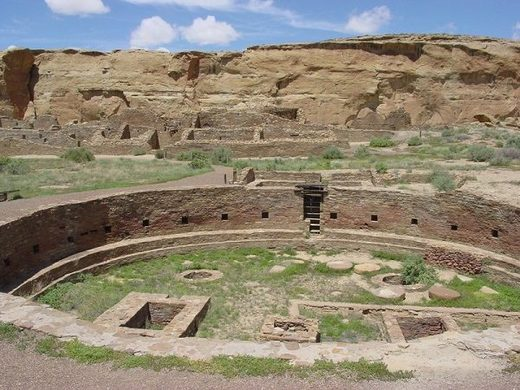 The kiva at Chaco Canyon