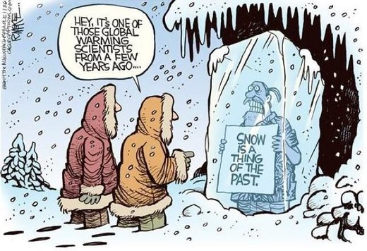 snow is a thing of the past cartoon