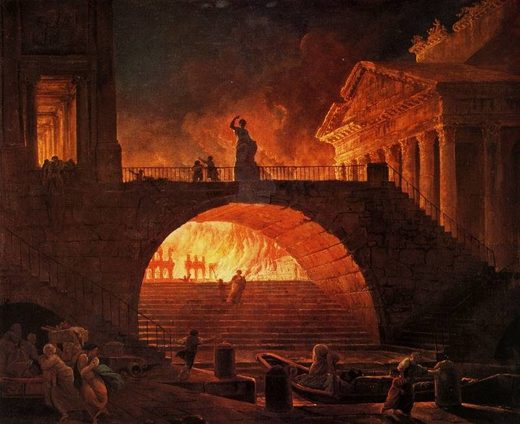 The fire of Rome painting