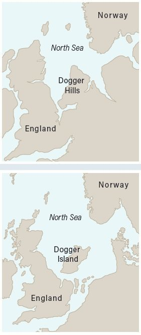 Rising sea levels doggerland