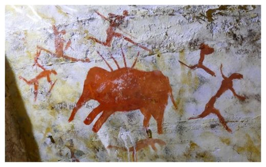 Neolithic cave painting