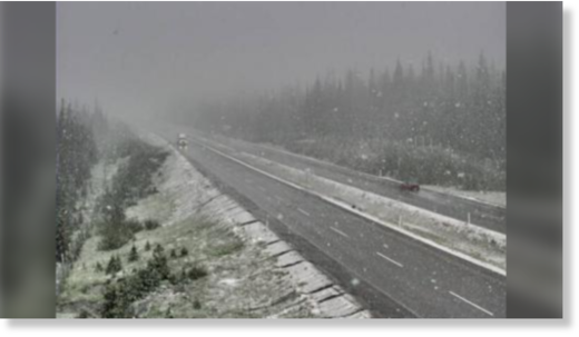 DriveBC highway camera shows snowy conditions