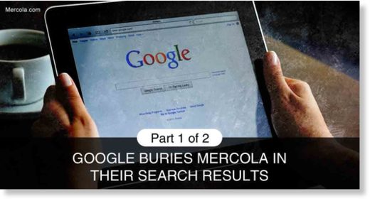 google buries mercola