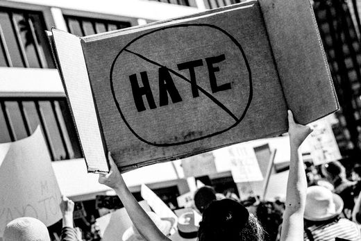 hate crime sign protest