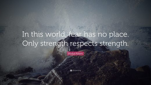 Strength Respects Strength Kalam