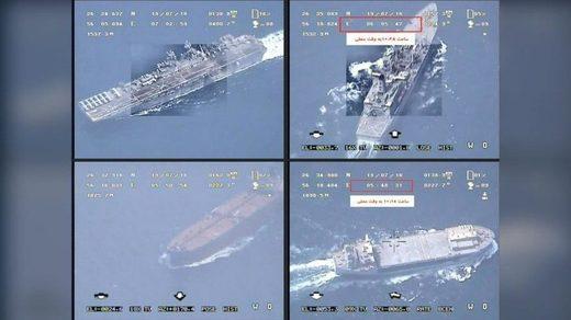 drone footage Iran seized tanker stena impero