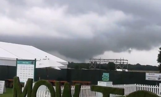 A miniature tornado hit south Manchester on Friday