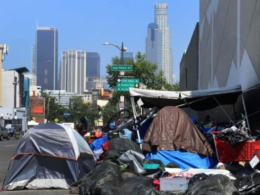 Los Angeles homeless tent city