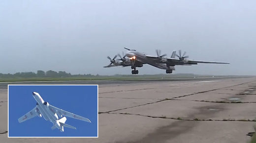 russian bomber Tu-95MS