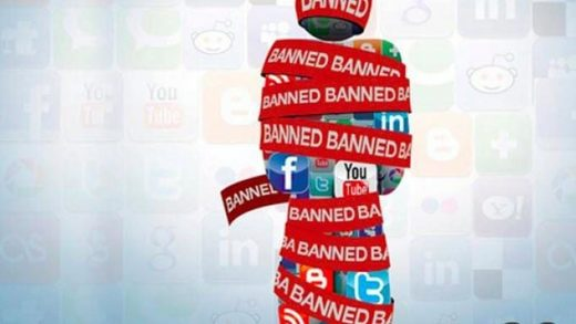 Youtube Facebook Twitter ban