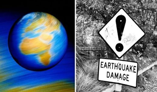 Slow Earth Rotation - Earthquake