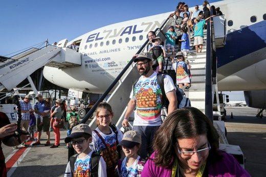 illegal settlers arrive israel