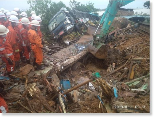 Landslide in Paung Township, Mon State,