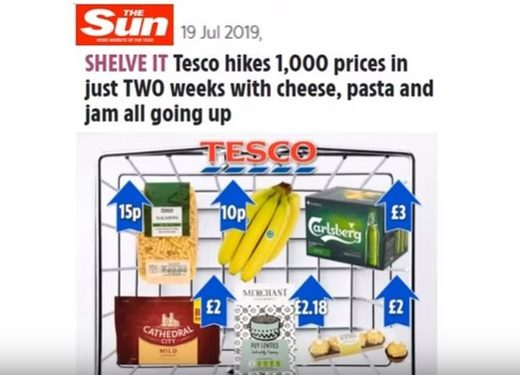 Tesco food price hikes