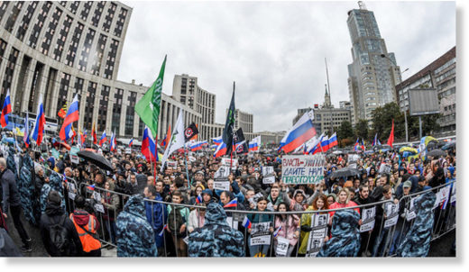 A protest rally in Moscow