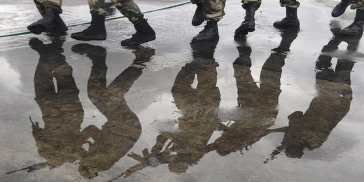 soldiers'reflection