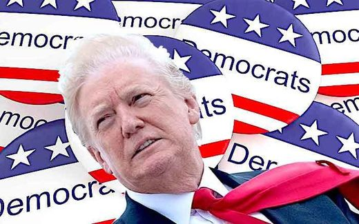 DNC buttons/Trump