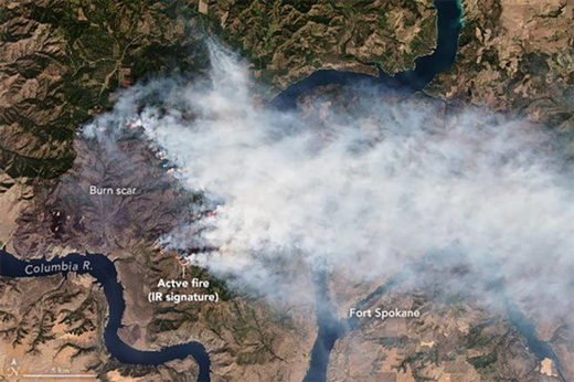 weather wildfire washington state