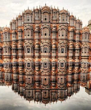 Perfect reflection, Hawa Mahal