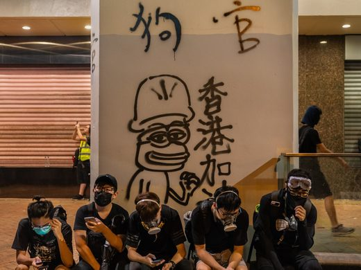 hong kong protesters pepe the frog