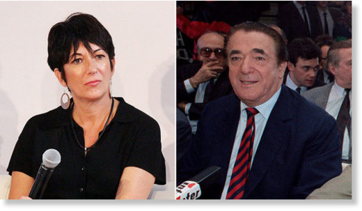 Ghislaine and Robert Maxwell