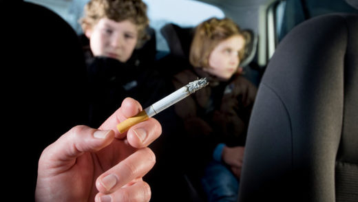 Smoking in car with minors