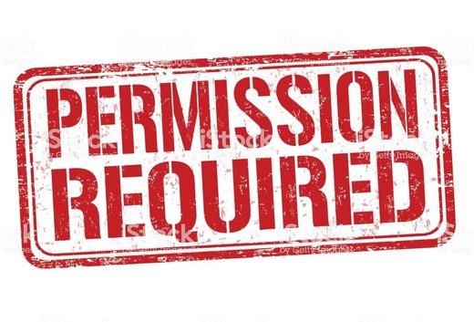 permission required