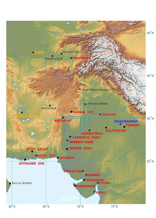 indus valley map