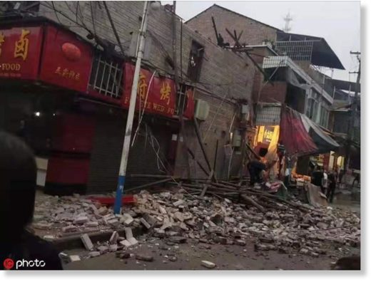 5.4-magnitude earthquake jolted Weiyuan county of Neijiang city in Southwest China's Sichuan province at 6:42 am Sunday.