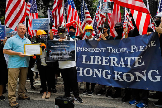 hong kong protest US consulate