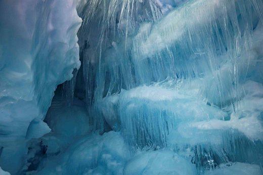 Ice cave in Antarctica