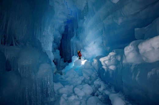 Ice cave in Antartica