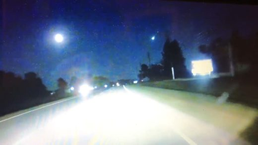 Meteor fireball streaks across the North Carolina sky