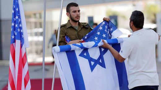 us israeli flags soldier
