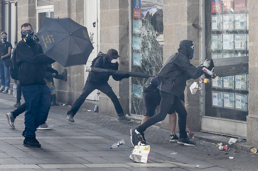 Black block protesters France Sept 2019