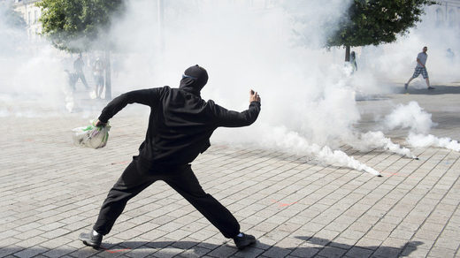 protester in Nantes France September 14 2019