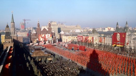 demonstration Red Square nov 1967.
