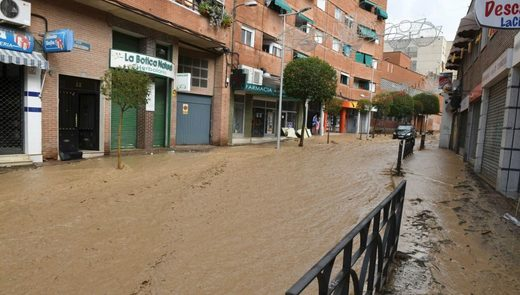 Madrid flash flooding