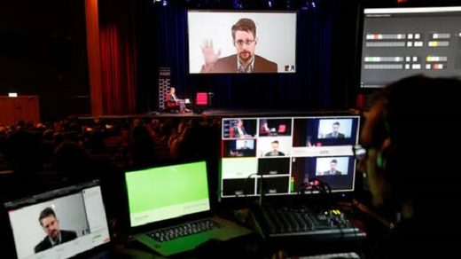 Edward Snowden speaking about his book