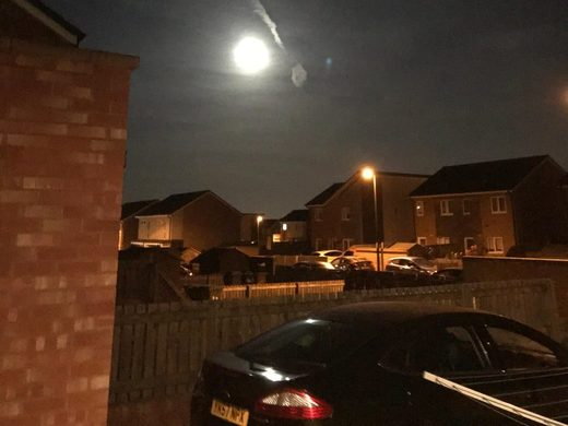 Fireball over Sunderland, England