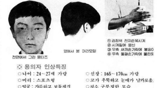 serial killer south korea police sketch