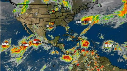 six tropical storms september 2019 record