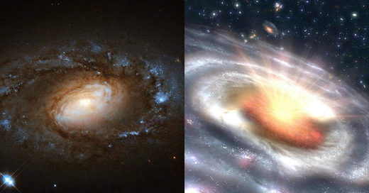 six galaxies dramatic changes