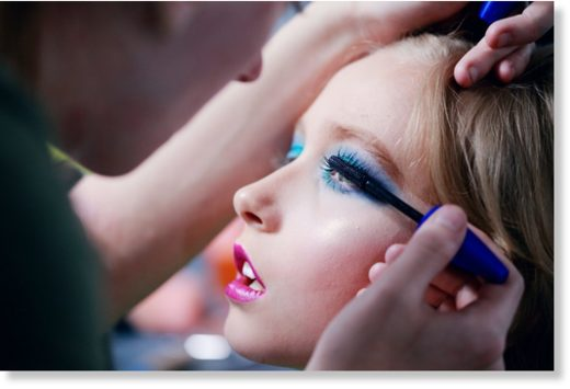 child in makeup