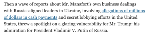 newspaper clipping manafort