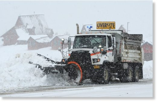 Jim Meehan with state DOT/PF plows