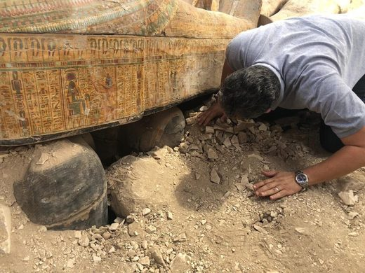 archaeologist egypt new coffins